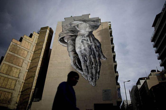 Граффити на стенах Афин (17 фото)