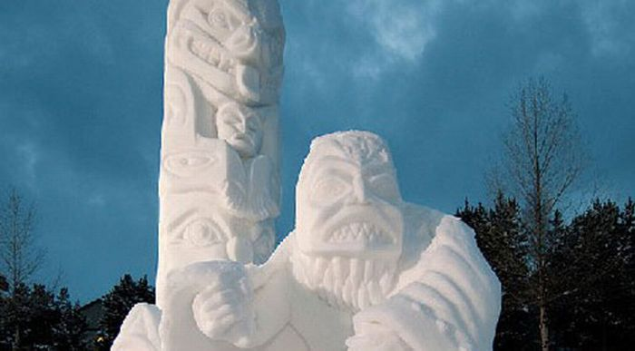 Снежные скульптуры (36 фото)