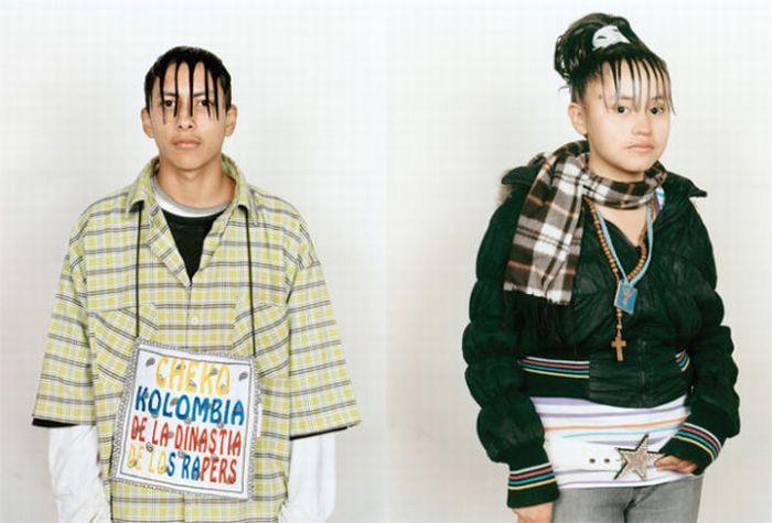 Сумасшедшие прически мексиканцев (15 фото)