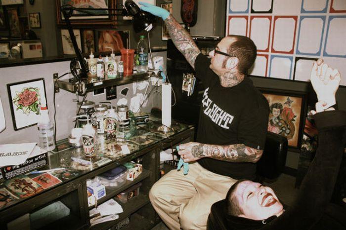 Татуировка фаната (5 фото)