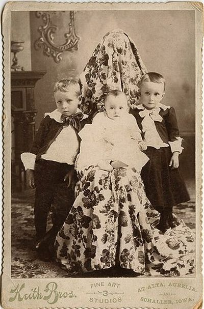Как фотографировали детей в прошлом (17 фото)