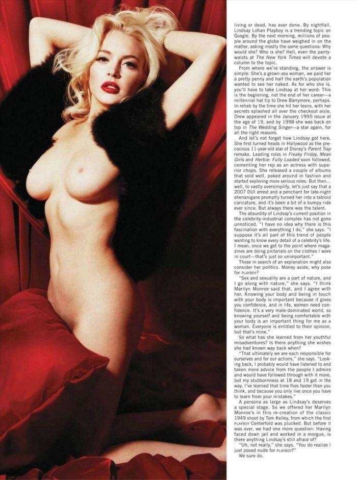 Линдсей Лохан в журнале Playboy (8 фото)