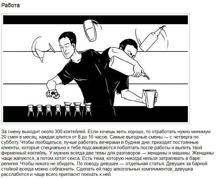 Работа бармена изнутри (15 картинок)