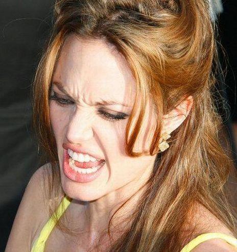 Смешные фотографии Анджелины Джоли (79 фото)