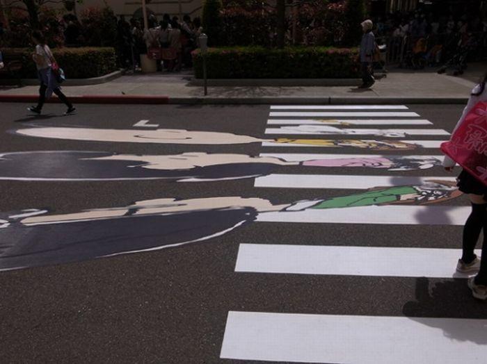 Необычный пешеходный переход (2 фото)
