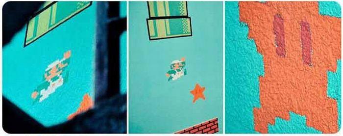 Подъезд в стиле Супер Марио (11 фото)