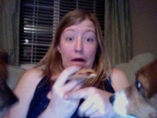 Неудачная попытка съесть пиццу (6 фото)
