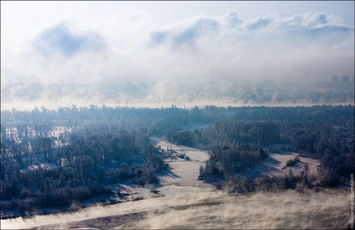 Зимний руфинг в Красноярске (50 фото)