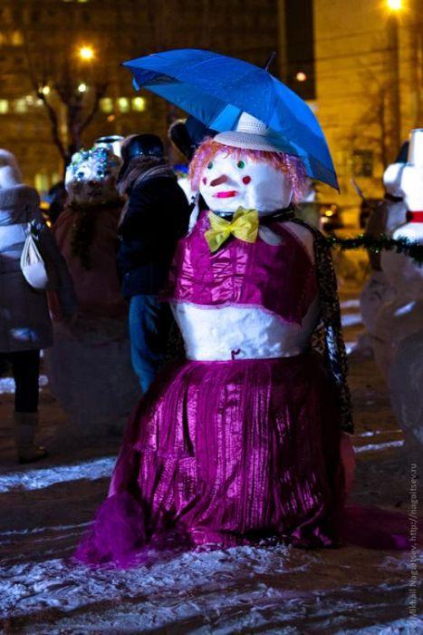 Парад снеговиков в Перми (14 фото)