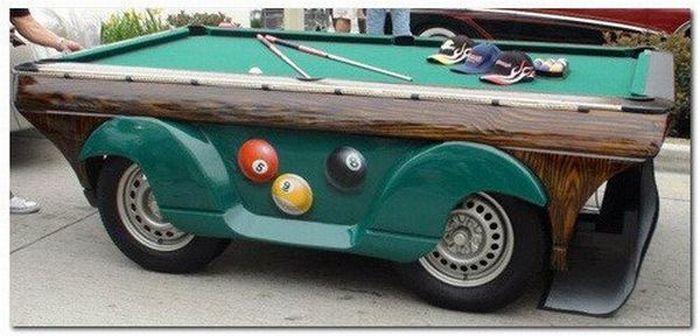 Машина для любителей бильярда (5 фото)