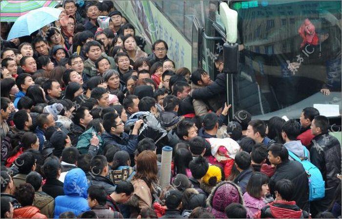 Столпотворение на Китайский Новый Год (36 фото)