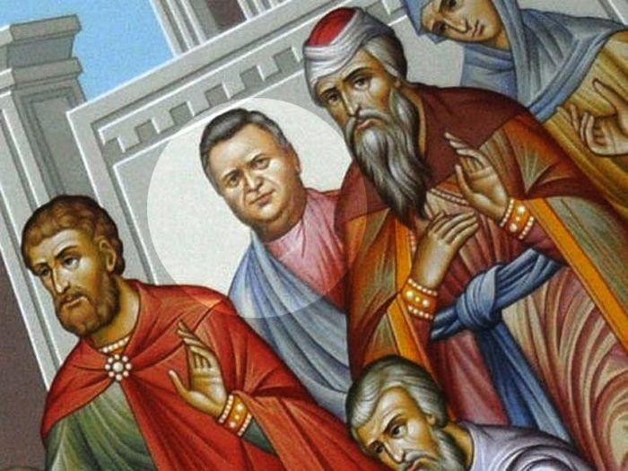 "Чиновник на фреске ""Вход в Иерусалим"" (3 фото)"