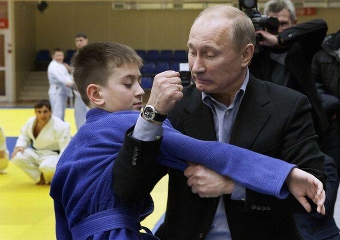 Владимир Путин и дети (10 фото)