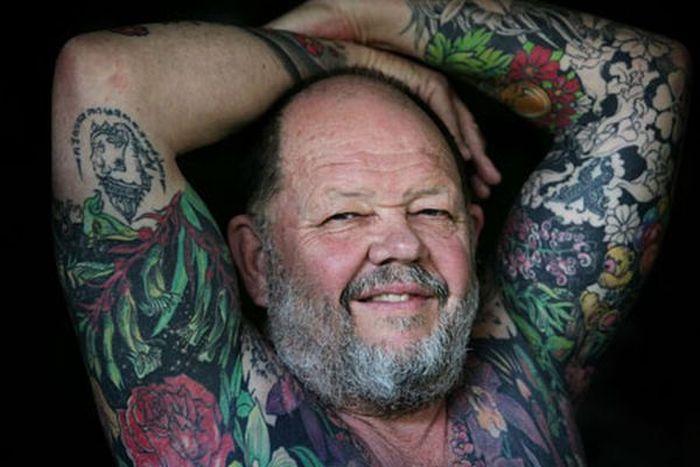 Старички, которые в молодости увлекались татуировками (20 фото)