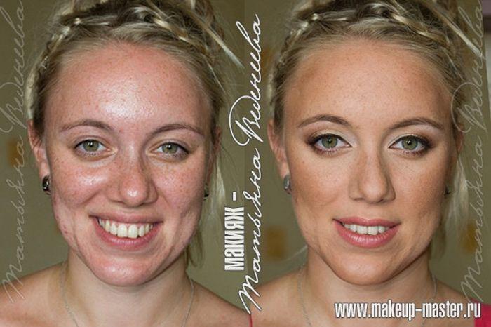 До и после макияжа (42 фото)