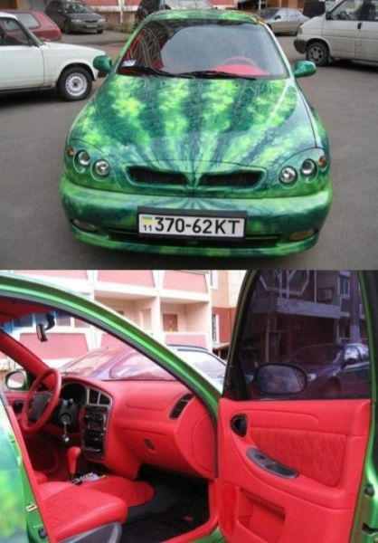 Смешные и странные автомобили (26 фото)