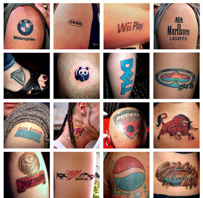 Татуировки брендов. Часть 2 (4 фото)