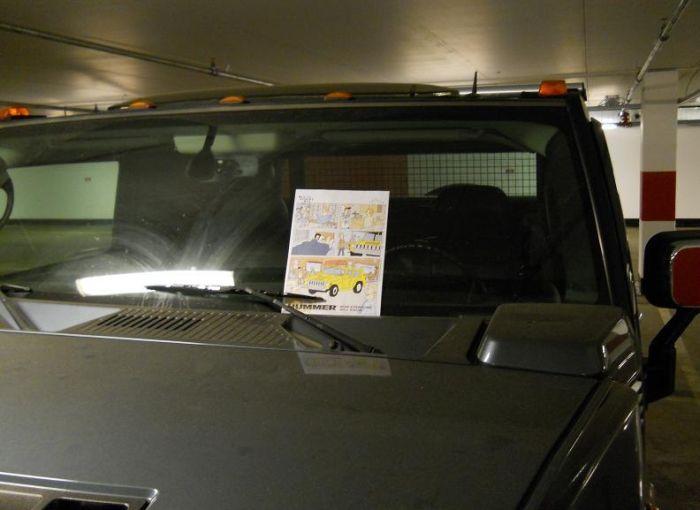 Как поиздеваться над владельцем Hummer (3 фото)