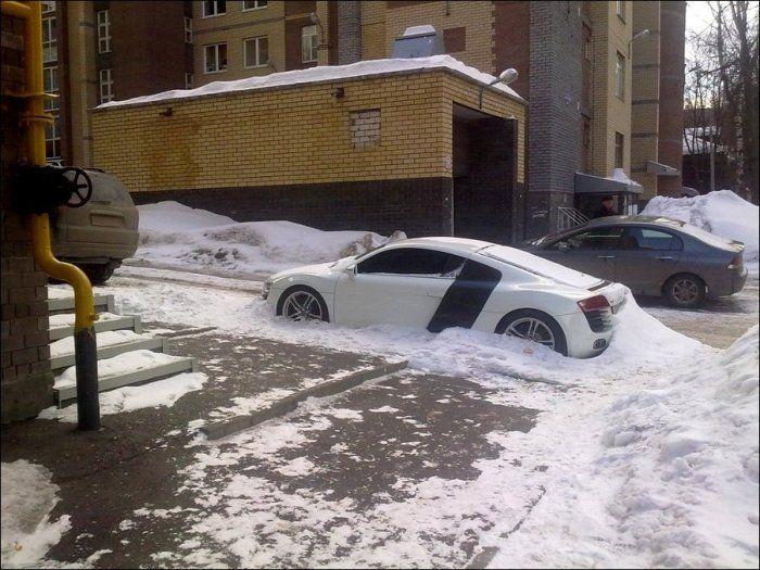 Забытая Audi R8 (8 фото)