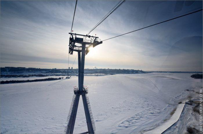 Канатная дорога, соединяющая Нижний Новгород и Бор (48 фото)