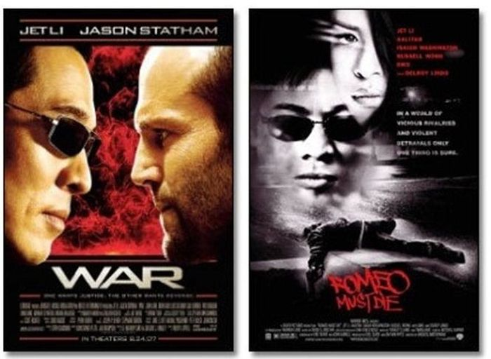 Одинаковые позы актеров на разных постерах (24 фото)