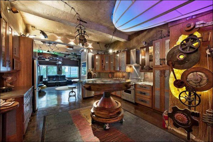 Стимпанк квартира в Нью-Йорке (8 фото)