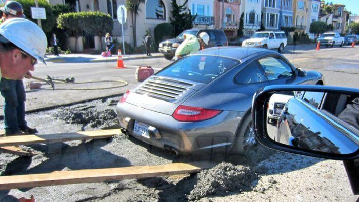 Парковка Porsche 911 в Сан-Франциско (4 фото)