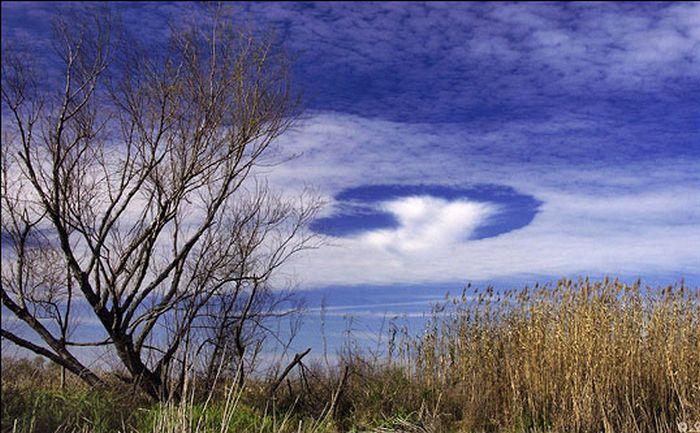 Дыры в облаках (35 фото)