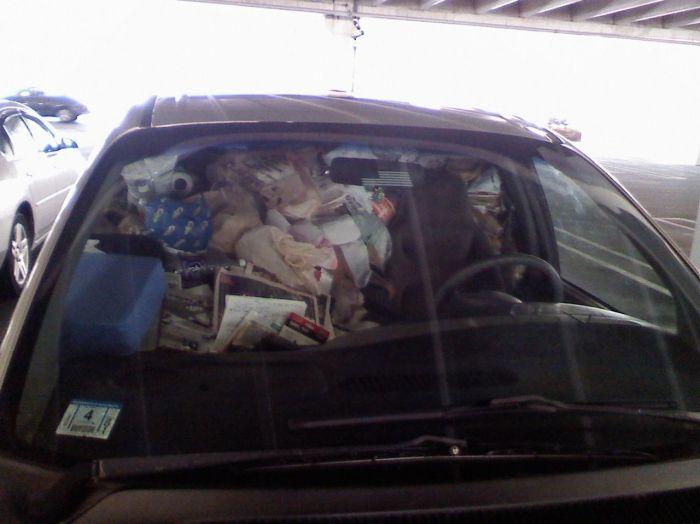 Автомобиль с мусором (2 фото)