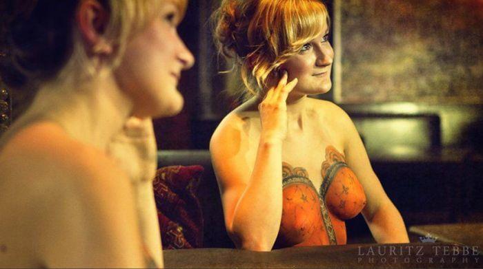 Красивый и сексуальный боди-арт (30 фото)