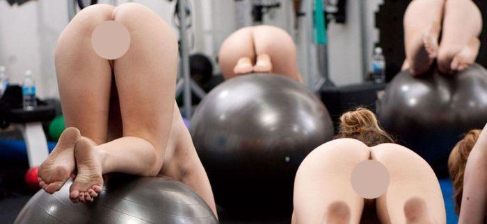 Спортзал для нудистов в Мадриде (8 фото)