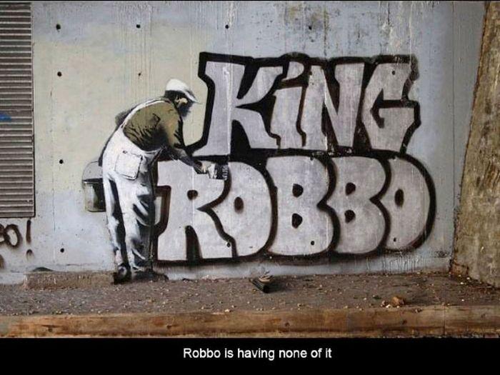 Противостояние уличных мастеров граффити (12 фото)