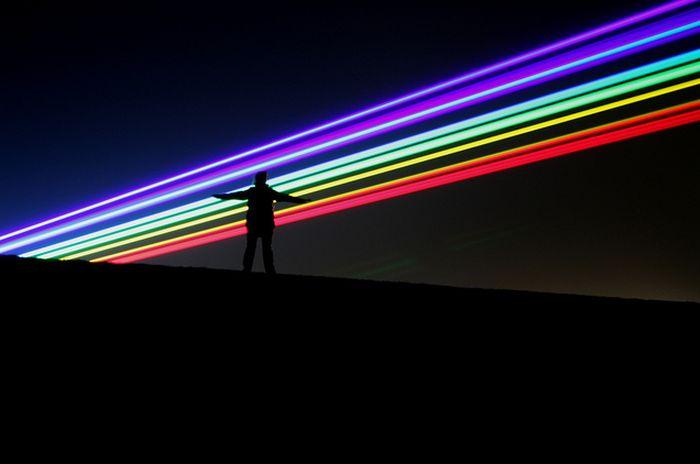 Лазерная радуга в Великобритании (19 фото)