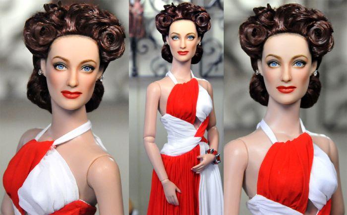 Перекрашенные куклы знаменитостей (35 фото)