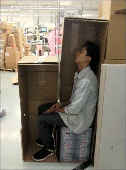 Как вздремнуть на работе (2 фото)