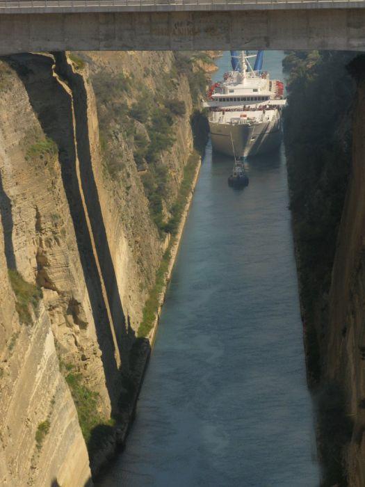 Yunanistan'da Corinth Kanalı