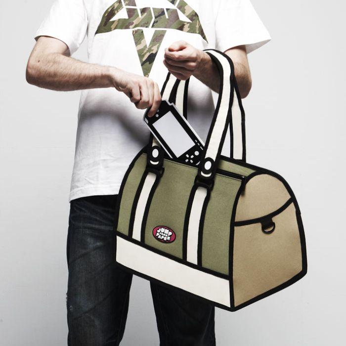 ...что эта сумка сделана из бумаги или вообще просто нарисована.
