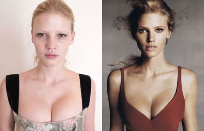 Фотомодели без макияжа и косметики (30 фото)