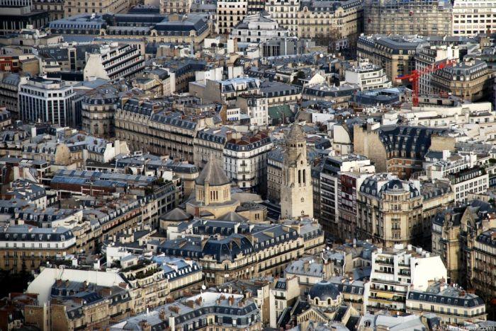 Париж с высоты Эйфелевой башни (41 фото)