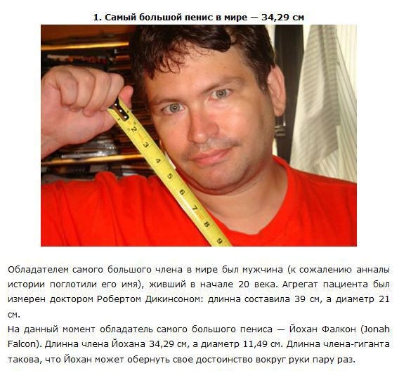 Интим рекорд член кг