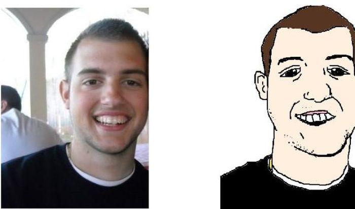 Карикатуры на своих друзей (35 рисунков)