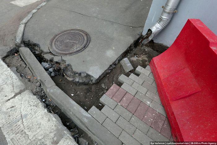 Московская плитка после зимы (21 фото)