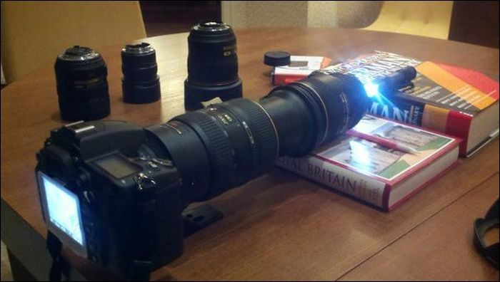 Микроскоп из фотоаппарата (7 фото)