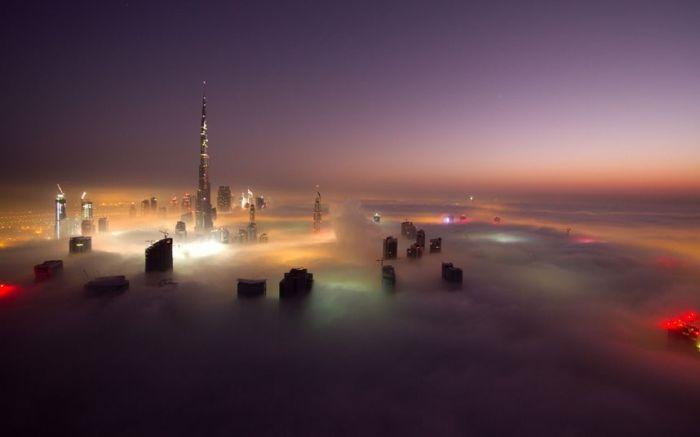 Туман в Дубаи (16 фото)