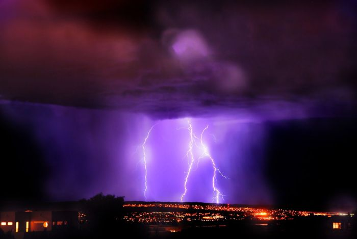 Мощная гроза в Альбукерке (37 фото)