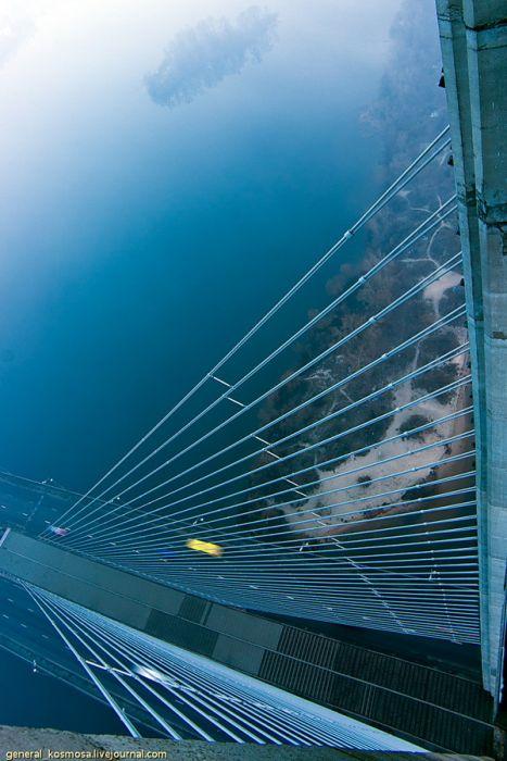Киев на рассвете с высоты 135 метров (17 фото)