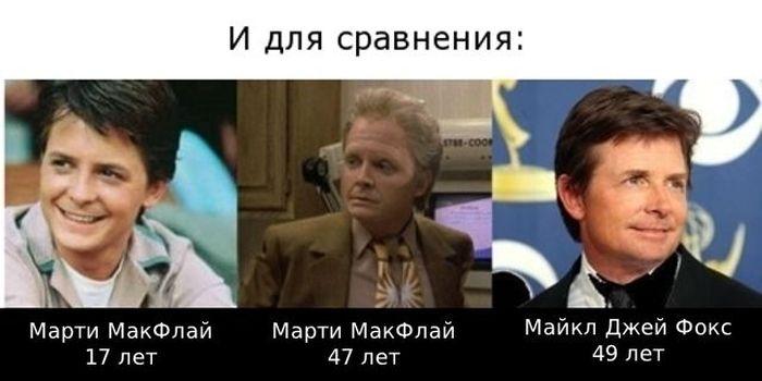 """Актеры из фильма """"Назад в будущее"""" (6 фото)"""