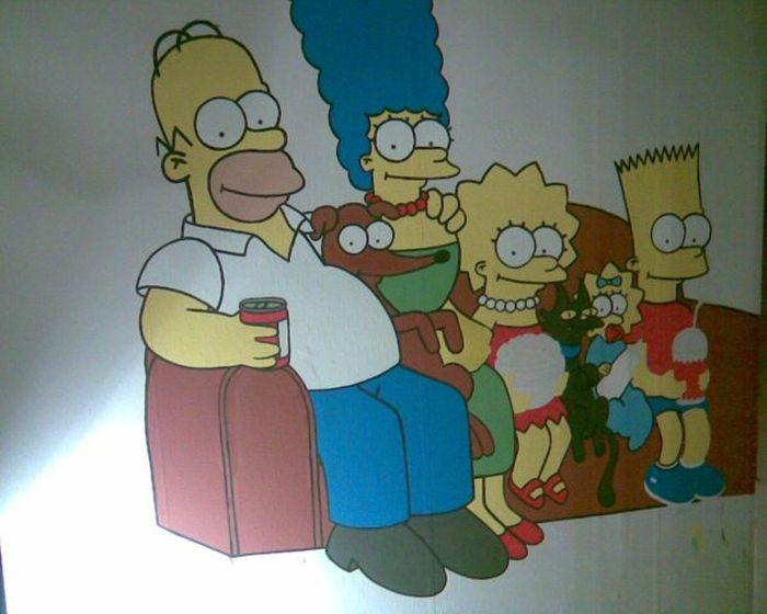 Симпсоны на стене (17 фото)