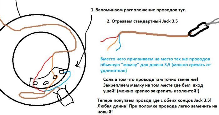 Чиним провод от наушников (5 фото)