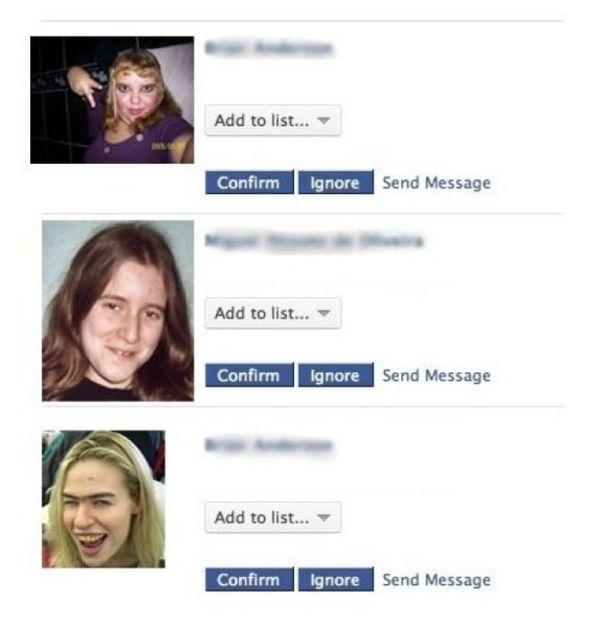 Аккаунт в Facebook после вечеринки (6 картинок)